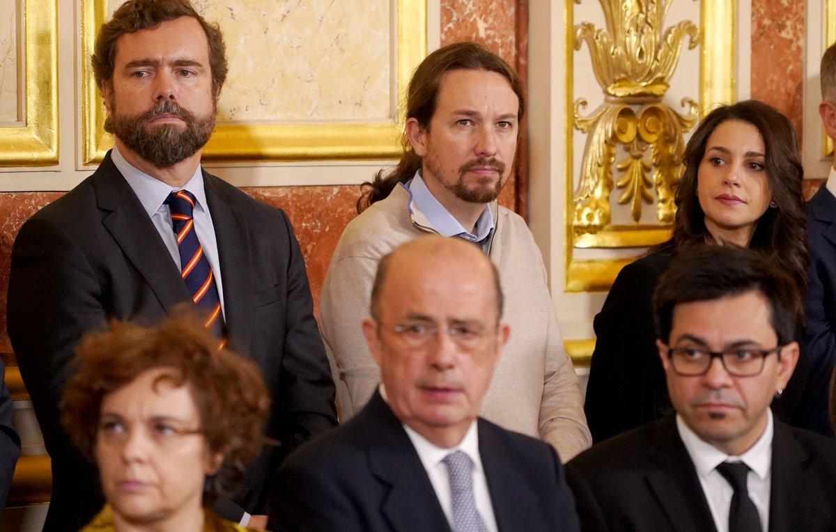 Polèmica per les rialles i el «companyonatge» d'Iglesias amb Espinosa de los Monteros i Arrimadas