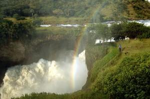 Las cataratas de Murchison, el paso más estrecho del río Nilo, en Uganda.