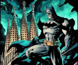 Imagen de la portada de Batman en Barcelona: el caballero del dragón, con dibujo de Jim Lee.