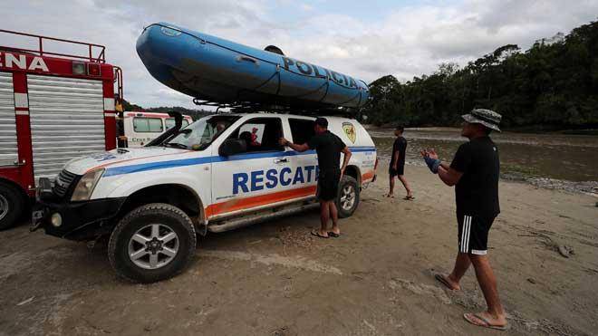 Se intensifican los trabajos de búsqueda del español desaparecido en un río de Ecuador.