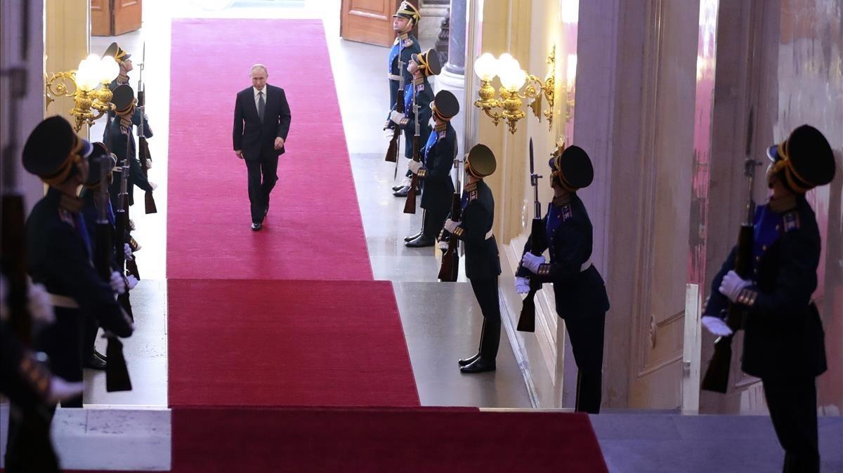 Putin, este lunes en el Gran Palacio del Kremlin