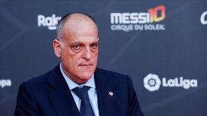 Javier Tebas, presidente de la Liga, en una imagen reciente