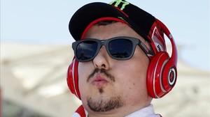 Jorge Lorenzo (Ducati), en la parrilla de MotoGP del Gran Premio de las América, en Austin (Texas).