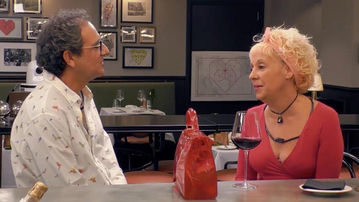 Juan y Rocío en 'First Dates'.