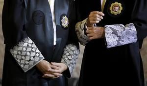 Justicia 8Magistrados del Supremo durante un acto solemne.