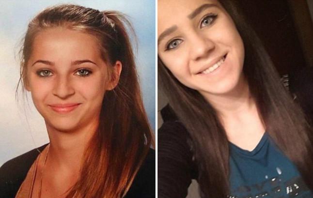 Las adolescentes Samra Kesinovic, de 16 años, y Sabina Selimovic, de 15 años, que se fueron a Siria el pasado verano.