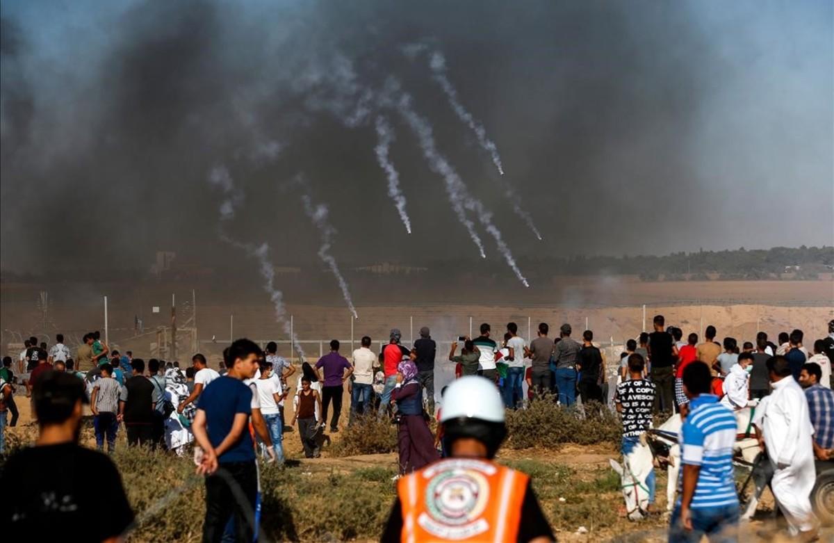 Las protestas en la Franja de Gaza.