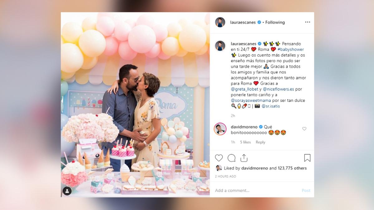 Laura Escanes y Risto celebran la baby shower de su hija