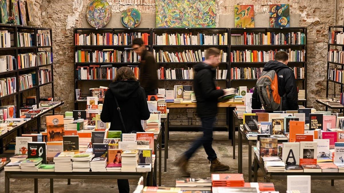 Una imagen de la librería Calders, en Barcelona.