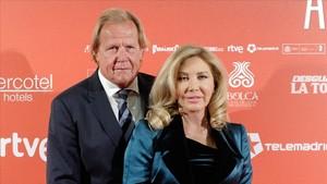 Norma Duval y Matthias Khün, en abril del año pasado.
