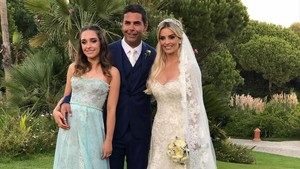 Doda Miranda con su hija Viviane y su esposa Denize Severo.