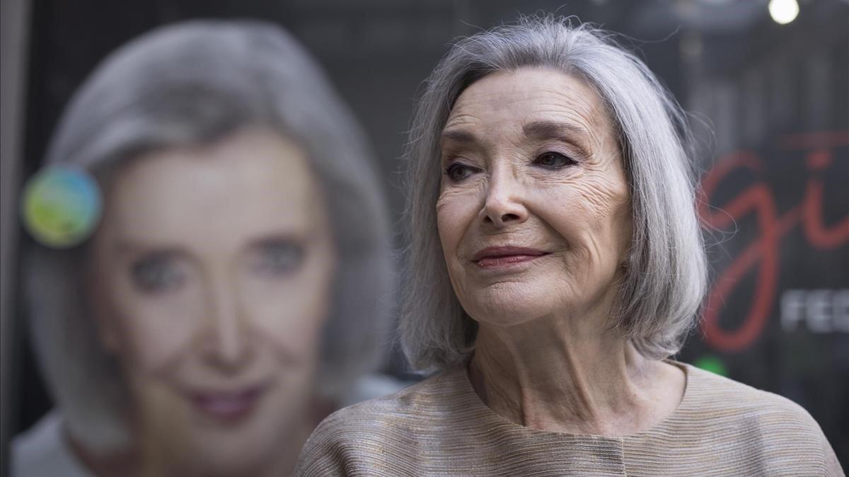 Núria Espert, la pasado 7 de enero, en el Teatro Romea, en la presentación de 'Romancero gintano'.