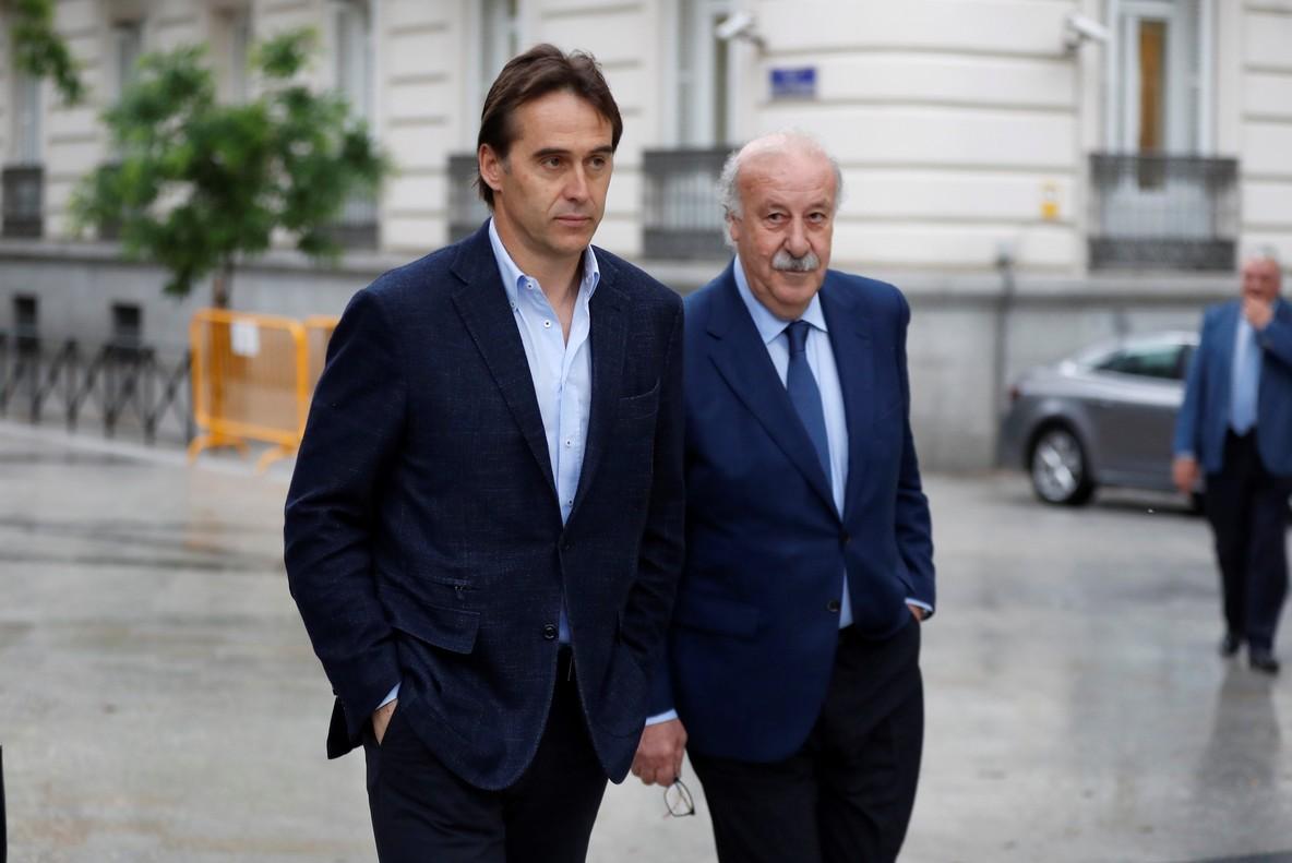 El seleccionador español de fútbol Julen Lopetegui y su predecesor Vicente del Bosque han declarado en la Audiencia nacional por en el caso en el que se investiga al inhabilitado expresidente de la Real Federación Española de Fútbol (RFEF) Ángel María Villar.