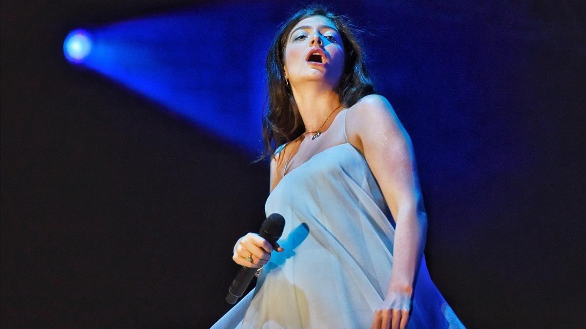Lorde, en su concierto del sábado en el Primavera Sound
