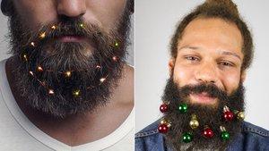 Los adornos navideños para barbas causan furor este año en las tiendas online.