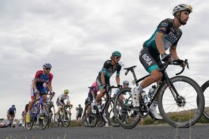 El pelotón, en la etapa delCritérium del Dauphiné deeste miércoles.
