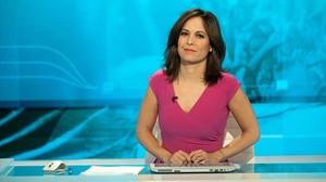 Mara Torres, en el plató de La 2 noticias.