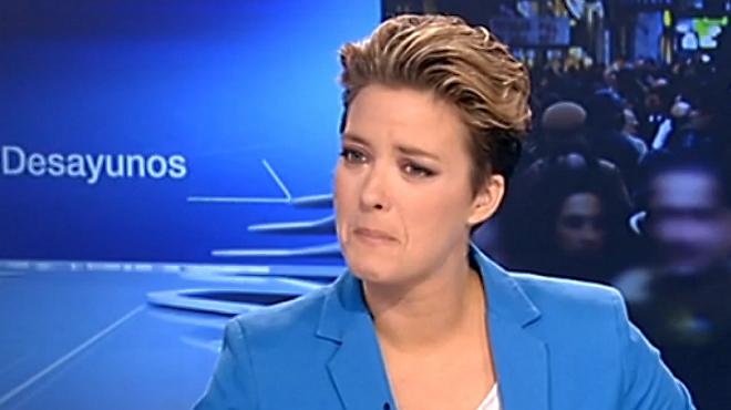La presentadora no ha podido contener las lágrimas durante Los Desayunos de TVE.