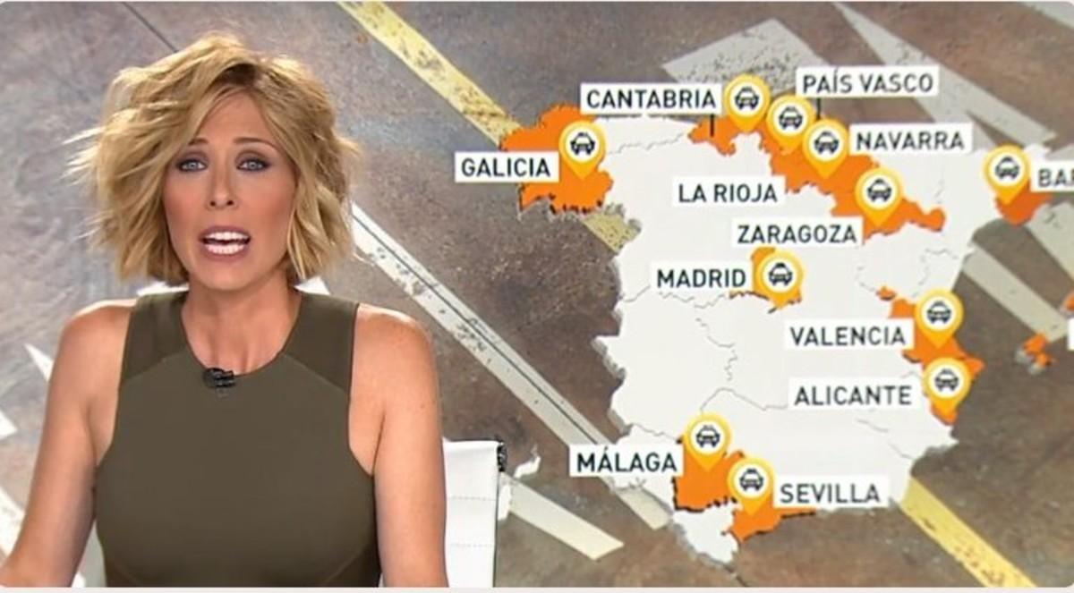 María José Sáez en Antena 3 Noticias.
