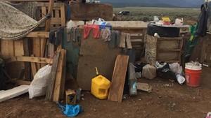 Lugar donde la policía rescató a los once niños retenidos.