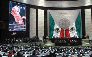 El pleno de la Cámara de Diputados en México.