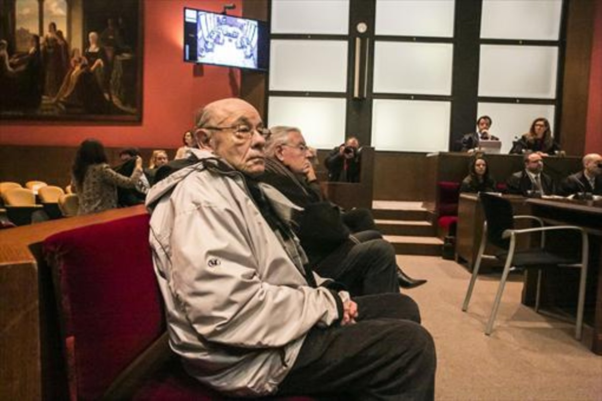 Millet y Montull, durante la vistilla del pasado lunesen el Palacio de Justícia.