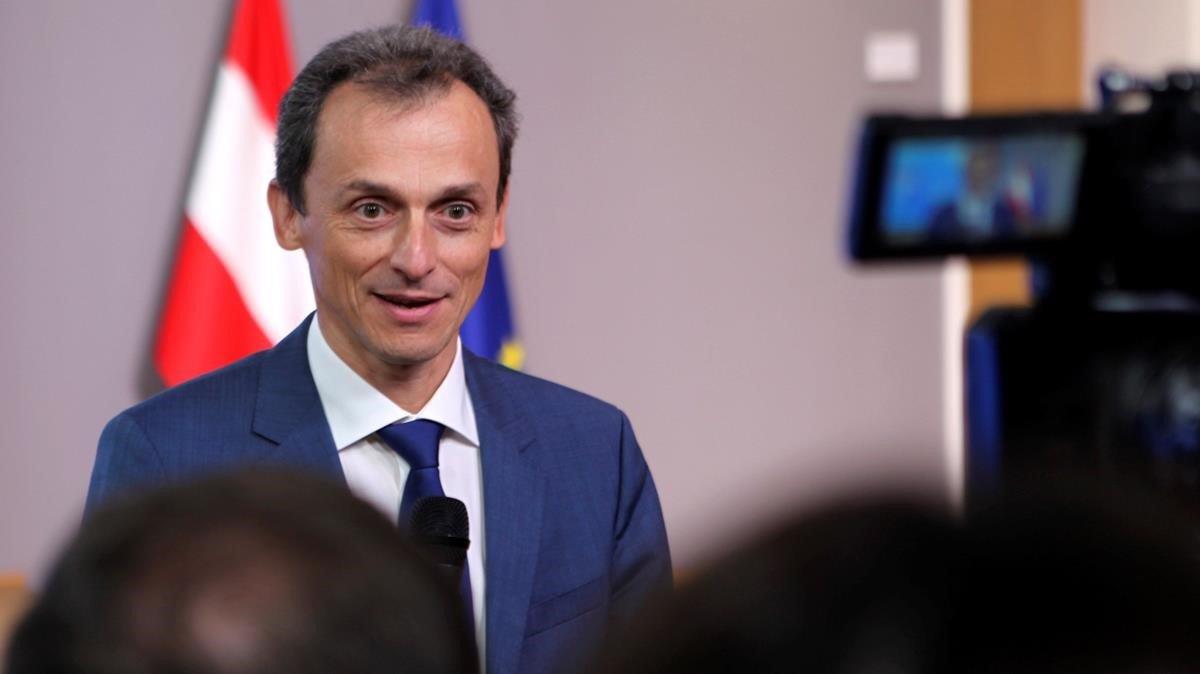 El ministro Pedro Duque, esta mañana, en el Consejo de Competitividad de la Unión Europea.