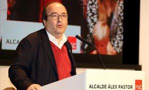 Miquel Iceta, en un acto del PSC en Badalona.