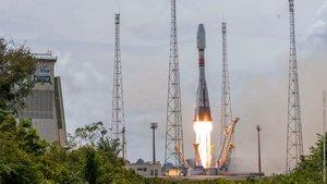 Lanzamiento decuatro satélites de la constelación Ob3 el pasado 4 de abril en la Guayana francesa.