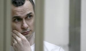 Oleg Sentsov, durante el juicio que se siguió contra él enRostov-on-Don.