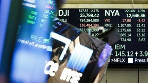 Un panel de la Bolsa de Nueva York.