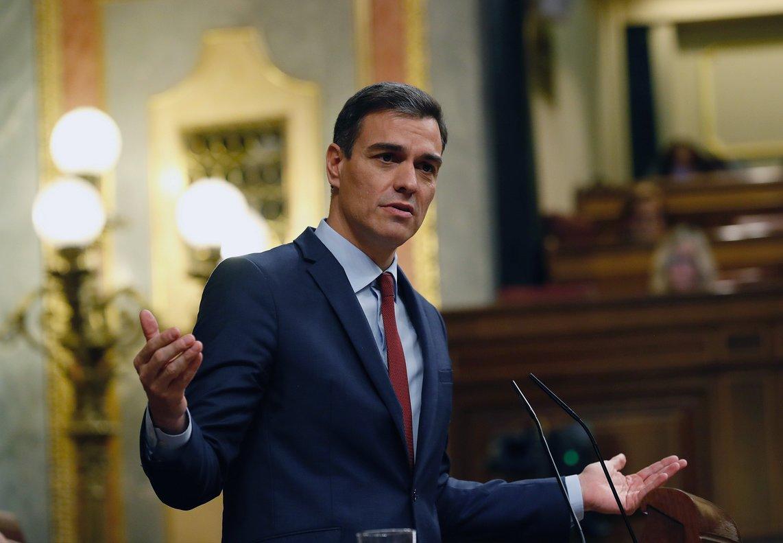 Pedro Sánchez, en el Congreso, el 27 de febrero.