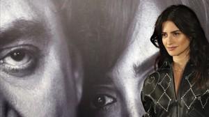 Penélope Cruz, en Madrid, en la presentación de'Loving Pablo'.