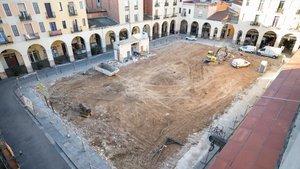 La plaza del Mercadaltras la finalizacióndel derribo del mercado, esta tarde