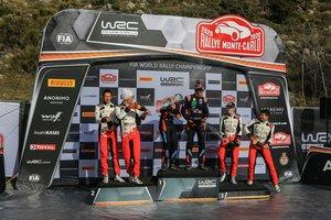El podio del rally de Montecarlo.