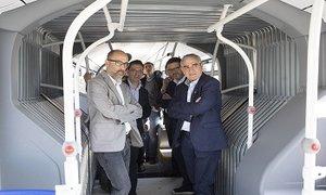 Presentación de los 10 nuevos autobuses híbridos de Terrassa.