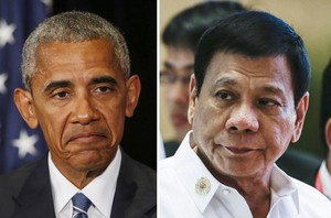 Obama y Duterte.