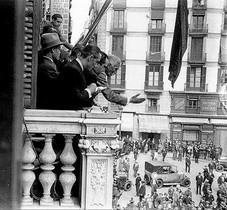 La proclamación de la República por Francesc Macià.