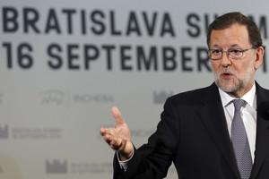 Rajoy, este viernes, en Bratislava.