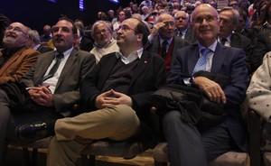 Ramon Espadaler, Miquel Iceta y Josep Antoni Duran Lleida, este lunes en la presentación del movimiento 'Portes Obertes al Catalanisme'.