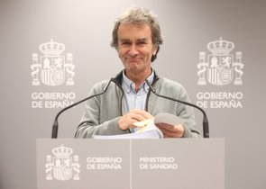 El director del Centro de Coordinación de Alertas y Emergencias Sanitarias, Fernando Simón, comparece tras la reunión del Comité de Seguimiento del coronavirus por los casos confirmados de pacientes infectados con el virus en Madrid, en el Ministerio de Sanidad/ Paseo del Prado/ Madrid (España).