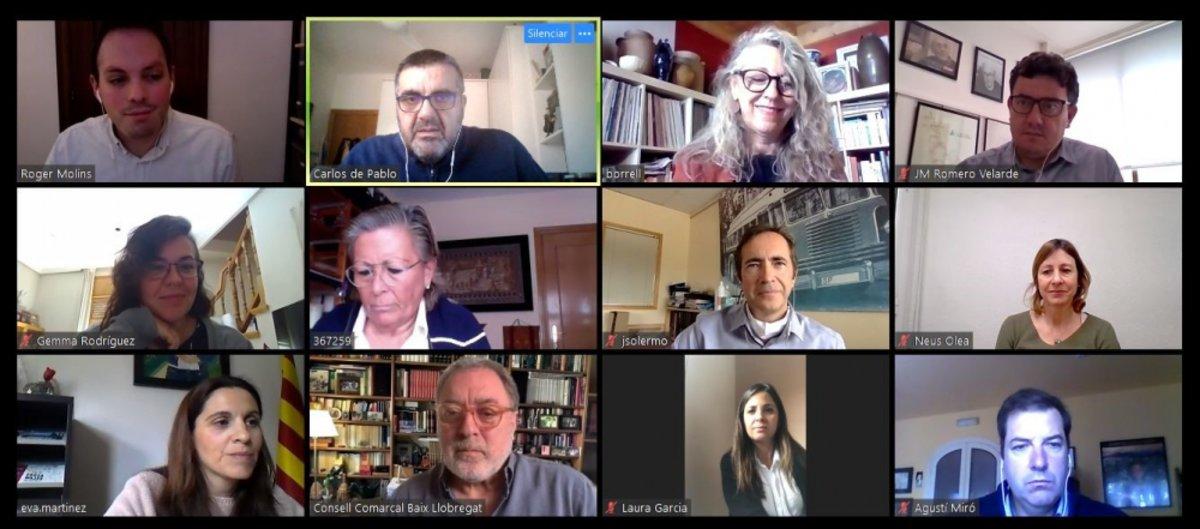 Reunión telemática del Comité Comarcal del Baix Llobregat para la reactivación socioeconómica de la comarca