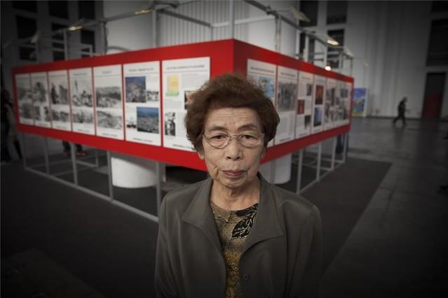 Sadae Kasaoka, superviviente de Hiroshima, en el Salón del Manga.