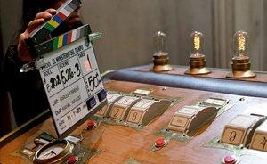La sala de mandos del Anacronópete, durante el rodaje de 'El Ministerio del Tiempo'.