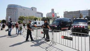 Operativo policial contra los carteristas en el Metro de Barcelona, este viernes 6 de septiembre