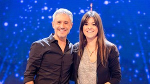 Sergio Dalma y Vanesa Martín, en el programa 'Hit-La canción', de TVE-1.