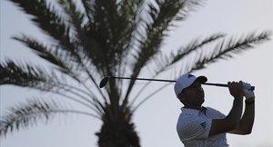 Sergio García, en acción en el torneo de Abu Dabi
