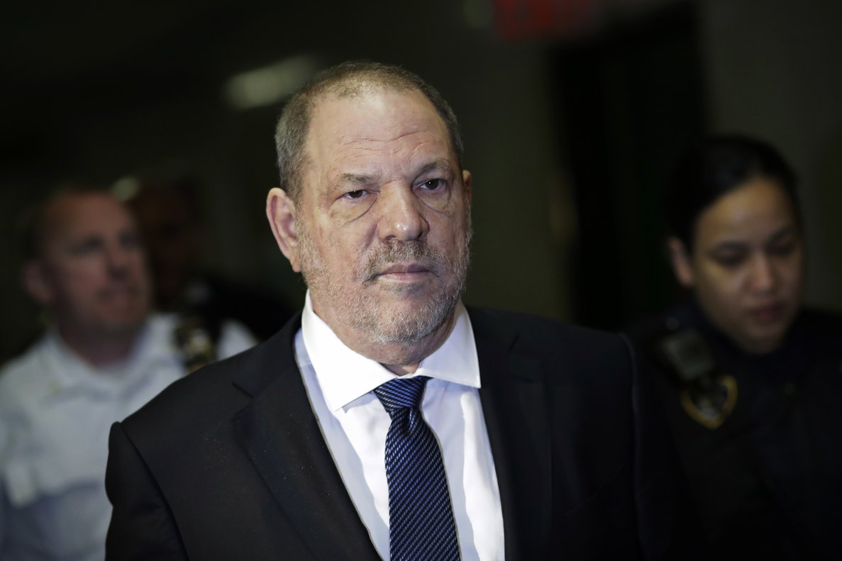 Harvey Weinstein enters State Supreme Court in New York  Weinstein was accused in a civil court filing  of forcing a 16-year-old Polish model to touch his penis  subjecting her to years of harassment and emotional abuse and blocking her from a successful acting career as payback for refusing his advances   AP Photo Mark Lennihan  File