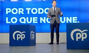 """El PP lanza el lema 'Por todo lo que nos une' frente a la """"polarización"""" del PSOE"""