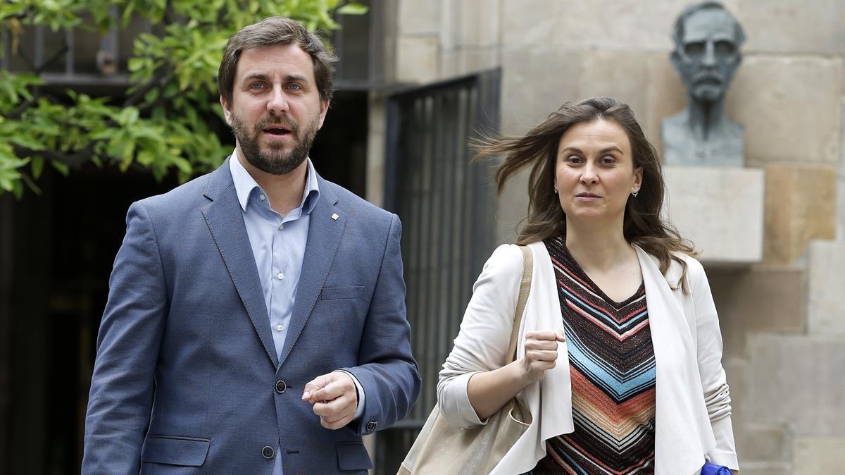 Toni Comín y Meritxell Serret, en una imagen de archivo.